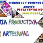 FERIA  PRODUCTIVA ARTESANAL VIERNES 26 Y 28 DE AGOSTO