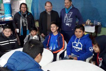 Intendente de Mosconi Isidro Ruarte Desayuno con la delegación de Pichanal en el marco de los Juego Evita 2018