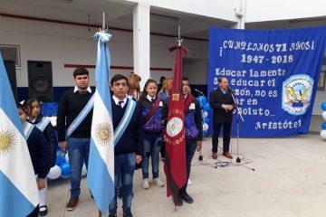 Isidro ruarte participo en acto de Escuela Tecnica de Vespucio