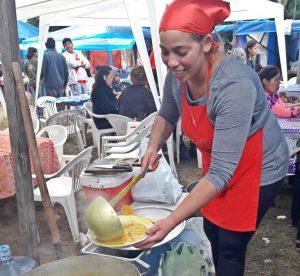 Angélica Ruiz, ganadora del 11º Concurso de Locro del 2017