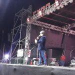 INTENDENCIA:09-07-2019   En el escenario del festival de la Expo Mosconi 2019, e…