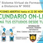 INTENDENCIA:13-11-2019  CICLO LECTIVO 2020…  INSCRIPCIÓNES EN EL SISTEMA VIRTUAL…