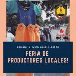 INTENDENCIA:22-11-2019  FERIA DE PRODUCTORES LOCALES  Este domingo  24 de Noviem…